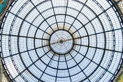 The iron-and-glass roof of Galleria Vittorio Emanuele II. Milan, Italy - May 29, 2018: The iron-and-glass roof of Galleria Vittorio Emanuele II Stock Images