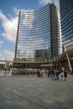 MILAN ITALY-MAY 13, 2017: panoramautsikt av det nya futuristiskt Arkivfoton