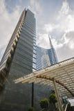 MILAN ITALY-MAY 13, 2017: panoramautsikt av det nya futuristiskt Royaltyfria Foton