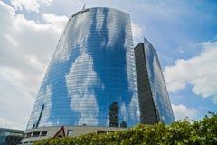 MILAN ITALY-MAY 13, 2017: panoramautsikt av det nya futuristiskt Royaltyfri Fotografi
