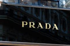 Prada logo at galleria Vittorio Emanuele II. Stock Image