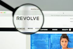 Milan, Italy - May 7, 2017: Revolve website homepage. It's a fas. Hion e-commerce store Stock Image
