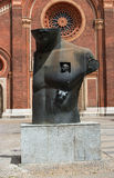 Milan, Italy - May 25, 2016: Sculpture of Polish sculptor Igor Mitoraj in Piazza del Carmine. Stock Images