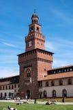 Milan, Italy - May 25, 2016: Sforza Castle -Castello Sforzesco-. royalty free stock image