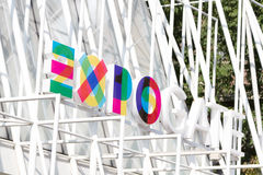 MILAN, ITALY - MAY 13: sign Expo Gate 2015, on October 8, 2015 i Stock Photo