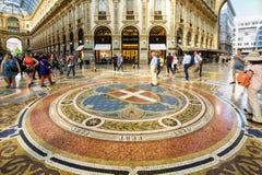 Galleria Vittorio Emanuele II in Milan, Italy Stock Photography