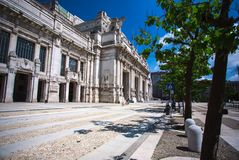 Milan, Italy. Milano Centrale. Summer Royalty Free Stock Photos