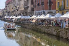 Milan, Italy: the Naviglio Grande stock photos