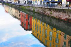 MILAN, ITALY - Naviglio grande stock photo