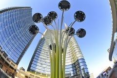 Milan, Italy, new Porta Nuova skyscrapers in  Gae Aulenti square Stock Photography