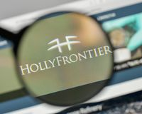 Milan, Italy - November 1, 2017: Holly Frontier logo on the webs. Ite homepage Stock Photo