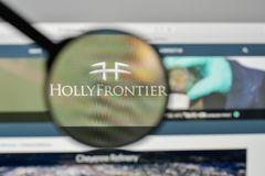 Milan, Italy - November 1, 2017: Holly Frontier logo on the webs. Ite homepage Royalty Free Stock Photos