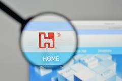 Milan, Italy - November 1, 2017: Hon Hai Precision Industry logo. On the website homepage royalty free stock photography