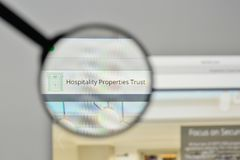 Milan, Italy - November 1, 2017: Hospitality Properties Trust lo. Go on the website homepage Stock Image