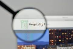 Milan, Italy - November 1, 2017: Hospitality Properties Trust lo. Go on the website homepage Stock Photo