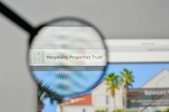 Milan, Italy - November 1, 2017: Hospitality Properties Trust lo. Go on the website homepage Royalty Free Stock Photography