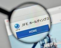 Milan, Italy - November 1, 2017: JFE Holdings logo on the websit Stock Image