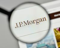 Milan, Italy - November 1, 2017: JP Morgan logo on the website h Stock Image
