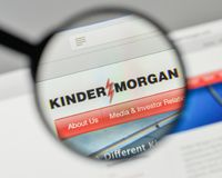 Milan, Italy - November 1, 2017: Kinder Morgan logo on the website homepage. stock image