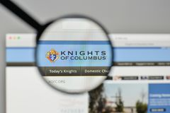 Milan, Italy - November 1, 2017: Knights of Columbus logo on the stock photography