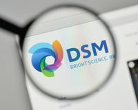 Milan, Italy - November 1, 2017: Koninklijke DSMNV DSM logo on t. He website homepage stock images