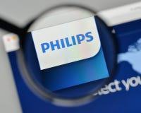 Milan, Italy - November 1, 2017: Koninklijke Philips NV logo on. The website homepage Stock Photo