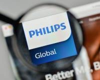 Milan, Italy - November 1, 2017: Koninklijke Philips NV logo on. The website homepage Stock Photos