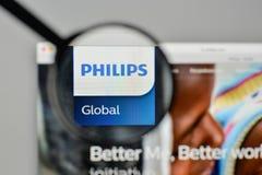 Milan, Italy - November 1, 2017: Koninklijke Philips NV logo on. The website homepage Stock Image