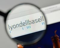 Milan, Italy - November 1, 2017: Lyondell Basell Industries logo. On the website homepage Royalty Free Stock Photo