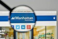 Milan, Italy - November 1, 2017: Manhattan Associates logo on th. E website homepage Stock Photos