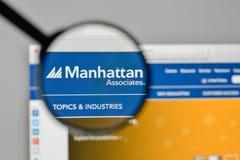 Milan, Italy - November 1, 2017: Manhattan Associates logo on th. E website homepage Stock Image