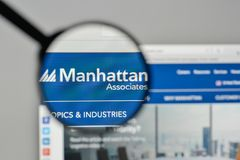 Milan, Italy - November 1, 2017: Manhattan Associates logo on th. E website homepage Royalty Free Stock Photos