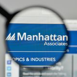 Milan, Italy - November 1, 2017: Manhattan Associates logo on th. E website homepage Stock Photo