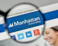 Milan, Italy - November 1, 2017: Manhattan Associates logo on th. E website homepage Royalty Free Stock Photography