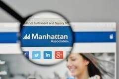 Milan, Italy - November 1, 2017: Manhattan Associates logo on th. E website homepage Royalty Free Stock Image