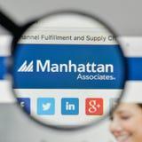 Milan, Italy - November 1, 2017: Manhattan Associates logo on th. E website homepage Royalty Free Stock Images