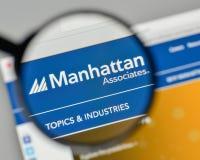 Milan, Italy - November 1, 2017: Manhattan Associates logo on th. E website homepage Stock Photography