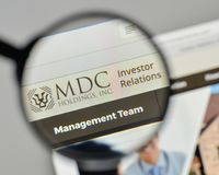 Milan, Italy - November 1, 2017: MDC Holdings logo on the websit Royalty Free Stock Image