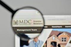 Milan, Italy - November 1, 2017: MDC Holdings logo on the websit Stock Photography