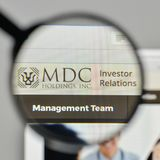 Milan, Italy - November 1, 2017: MDC Holdings logo on the websit Stock Images