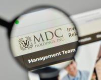Milan, Italy - November 1, 2017: MDC Holdings logo on the websit Stock Photo