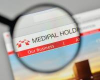 Milan, Italy - November 1, 2017: Medipal Holdings logo on the we Royalty Free Stock Image