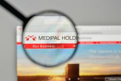 Milan, Italy - November 1, 2017: Medipal Holdings logo on the we Royalty Free Stock Images