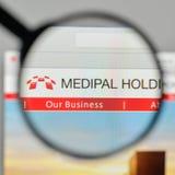 Milan, Italy - November 1, 2017: Medipal Holdings logo on the we Royalty Free Stock Photo