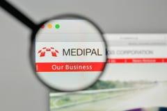 Milan, Italy - November 1, 2017: Medipal Holdings logo on the we Royalty Free Stock Photos