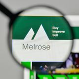 Milan, Italy - November 1, 2017: Melrose Industries logo on the. Website homepage Stock Images