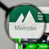 Milan, Italy - November 1, 2017: Melrose Industries logo on the. Website homepage Stock Photo