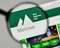 Milan, Italy - November 1, 2017: Melrose Industries logo on the. Website homepage Stock Photos