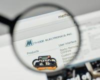 Milan, Italy - November 1, 2017: Methode Electronics logo on the Royalty Free Stock Image