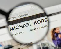 Milan, Italy - November 1, 2017: Michael Kors Holdings logo on t Stock Photos